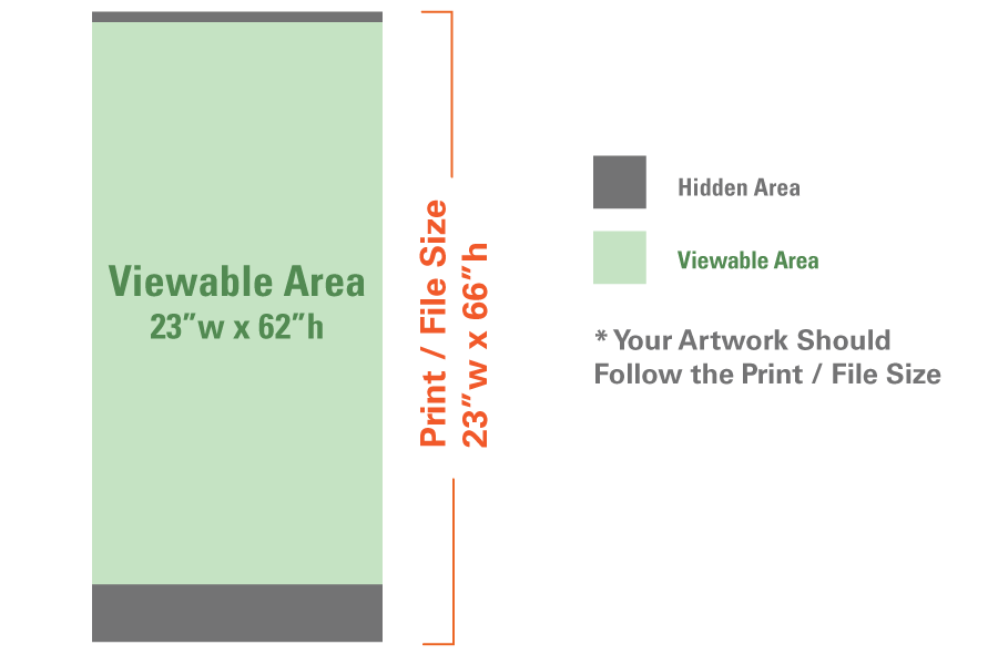 """Image of item Standard Retractable w/ Stand - 23""""x66"""" 7"""